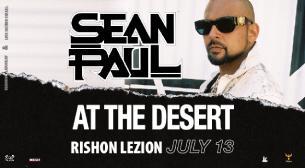 Sean Paul כרטיסים